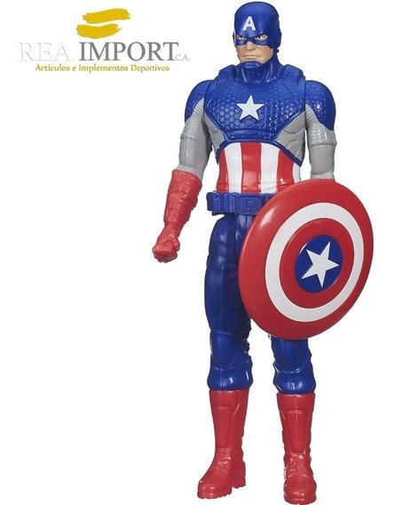 Muñeco Avengers Capitan America 30cm Serie Titan Hero Hasbro