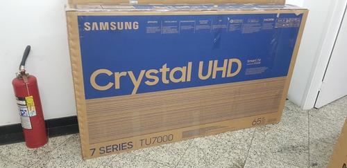 Samsung Smart Tv 65  Crystal Uhd 65tu7000 4k - Nova/na Caixa