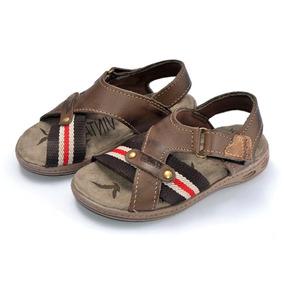 Sandalia Papete Couro Unissex Infantil K9045-78/73 / Estoque