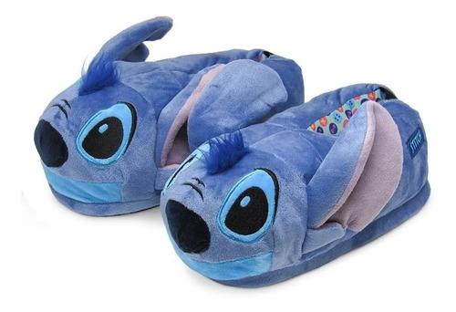 Pantufa 3d Stitch Solado De Borracha Original Disney