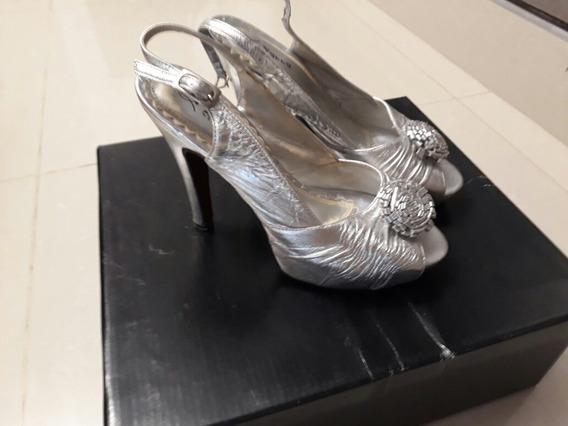 Zapatos Plataforma Luciano Marra Plateados 37