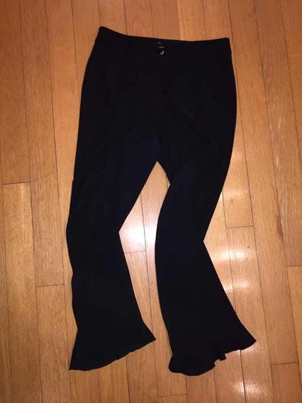 Pantalón Negro Con Volados Abajo De Armani. Talle 42