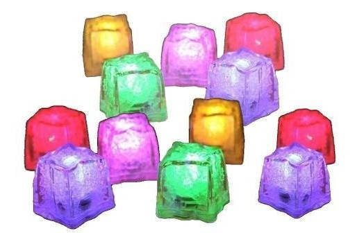 Cubo Hielo Led Luminosos 12 Cubitos Multicolor