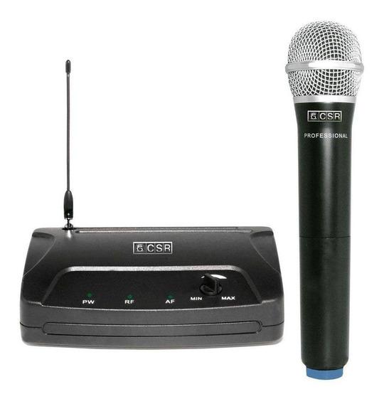 Microfone Dinâmico Sem Fio 1 Microf. - Csr 104h Frete Grátis