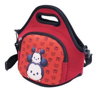 Mini Bolsa Térmica Vermelha Mickey Minnie Tsumtsum - Disney