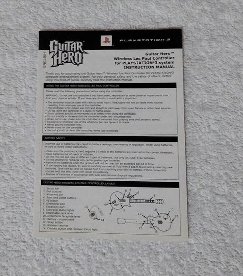 Manual Da Guitarra Guitar Hero Les Paul Ps3 ** Leia