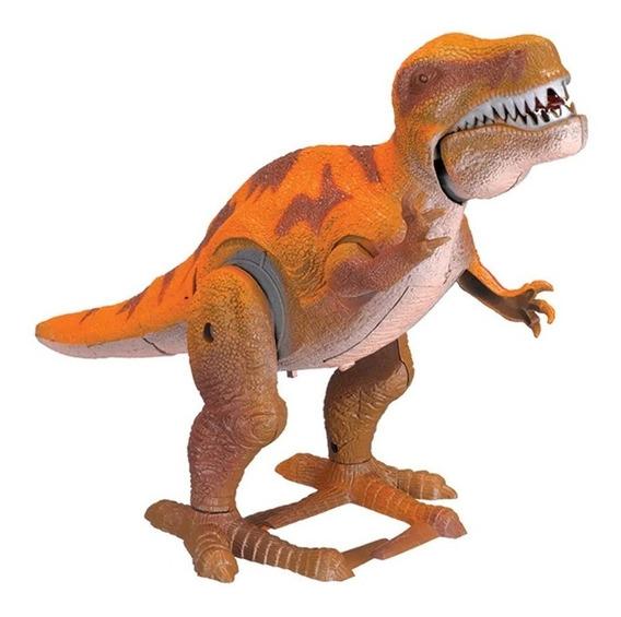 Dinossauro T-rex Park 32x22 Anda Emite Som E Luz Articulado