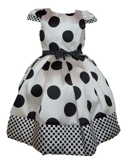 Vestido Infantil Festa Luxo Petit Cherie Dalmata 008