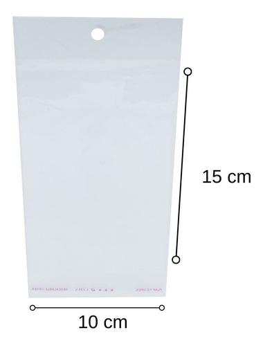 1000 Saquinhos Transparente Para Cartela Bijuteria 10x15 Cm