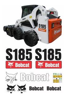 Kit Adesivo Mini Carregadeira Bobcat S185 + Etiquetas Mk