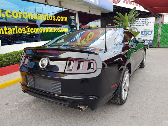 2014 Mustang Gt Aut, Elec, A/c Piel 2p Negro