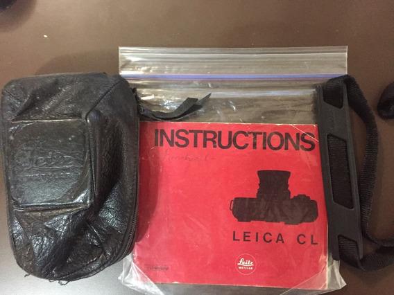 Leica Cl Tenho A Cap De Couro+manual+alça Original