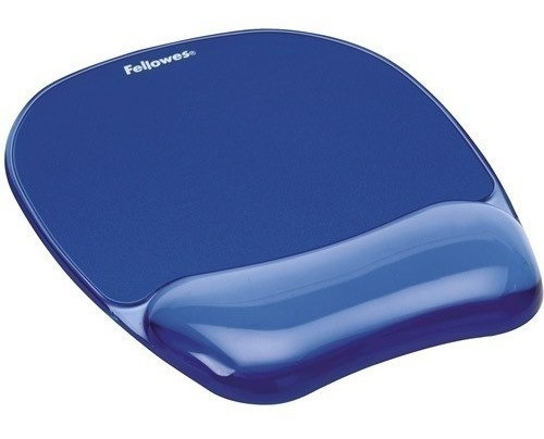 Mouse Pad Con Reposamuñecas Gel Crystal Azul Fellowes