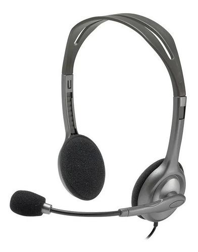 Auricular Vincha Headset Logitech H111 Micrófono 3.5mm
