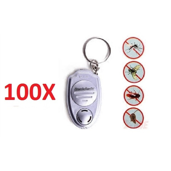 Kit 100 Repelente Eletronico Sem Tomada Chaveiro Mosquito