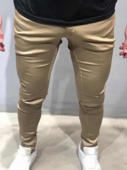 Pantalon De Vestir Satinado Chupin Hombre Sport Farenheite