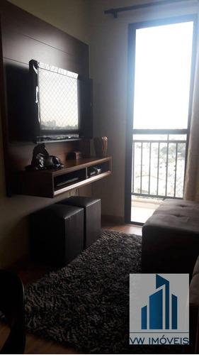Apartamento Com 2 Dormitórios À Venda, 50 M² Por R$ 250.000 - Vila Rio De Janeiro - Guarulhos/sp - Ap0073