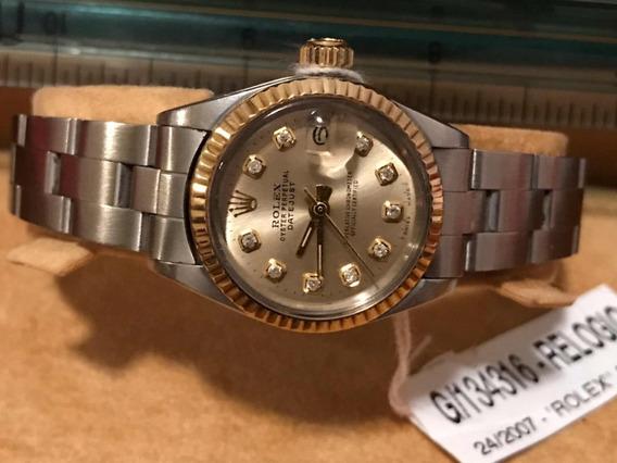 Relógio Rolex Oyster Datejust Brilhantes Feminino; Original!