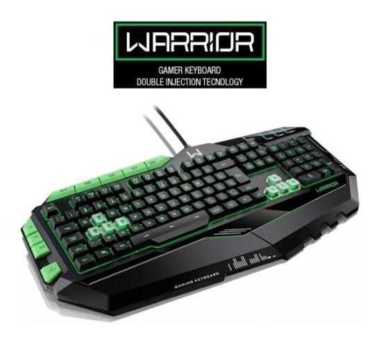 Teclado Profissional Gamer Preto E Verde Com Led Usb - Tc199