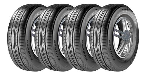 Imagem 1 de 5 de Kit 4 Pneus Bridgestone Aro 15 Ecopia Ep150 185/65r15 88h