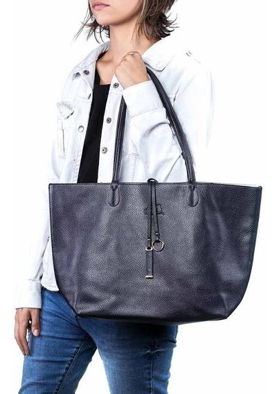 Bolsa Feminina Shopper Azul Oumai + Chaveiro