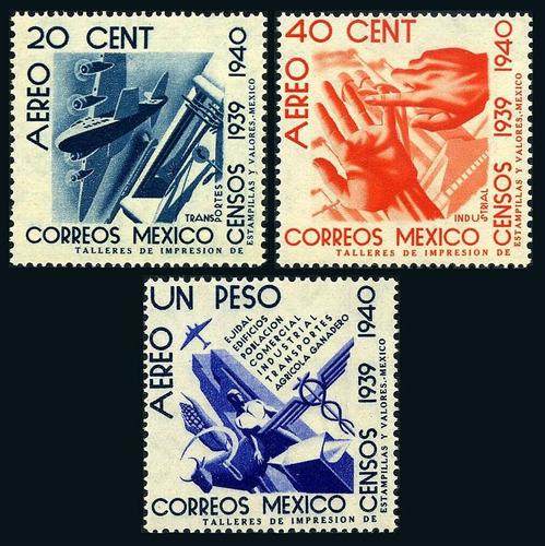 Imagen 1 de 1 de México 1940 : Censos Nacionales 1939-1940 - Aereos