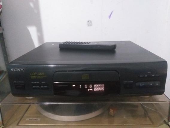 Cd Player Sony Cdp-m28 Funcionando + Controle