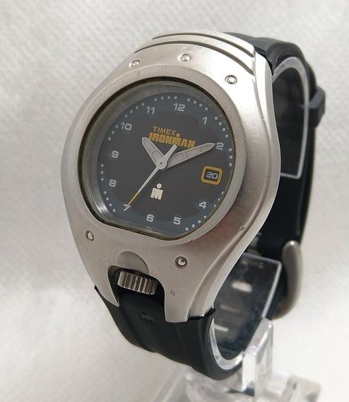 Relógio Timex Ironman Quartz Analógico Raro Pulseira Borrach