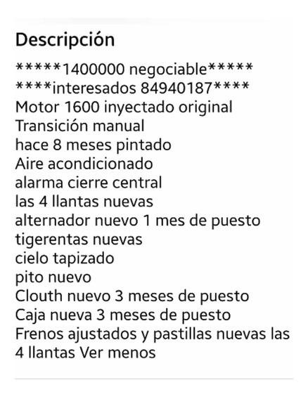Nissan B13 Año 92