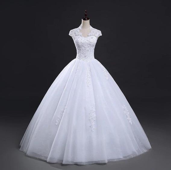 Vestido De Noiva Debutante Detalhe Costas Pronta Entrega