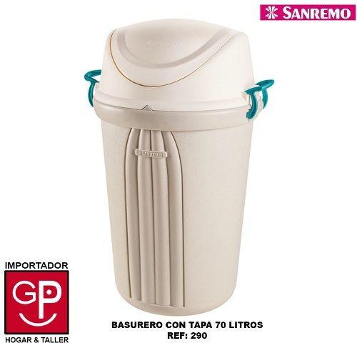Basurero Con Tapa San Remo 70 Litros R290 G P