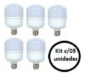 Lampada Led Alta Potencia 20w - Kit C/05 Unidades