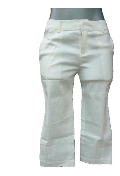 Pantalón Recto Tipo Pescador, Tiro Medio