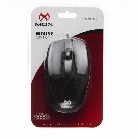 Mouse Óptico Usb Com Fio 1000dpi Para Pc Mox Mo-me100