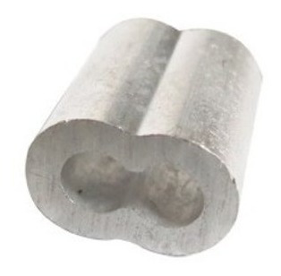 Casquillo Doble Aluminio 1/16 Con 100 Piezas Ash Obi