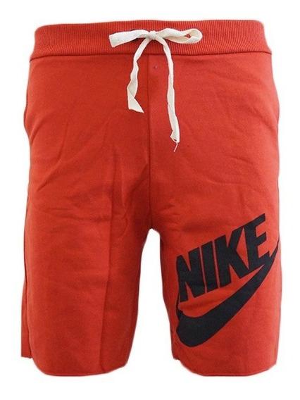 Bermuda Nike Moletom Vermelho