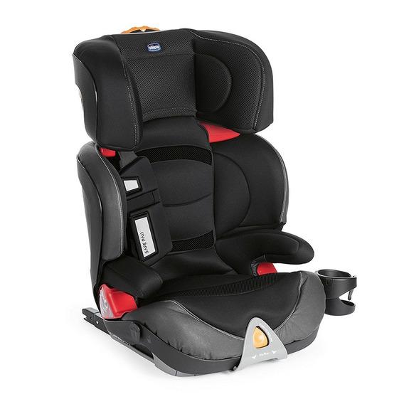 Cadeira Para Auto Oasys 2-3 Fixplus Evo Jet Black Chicco
