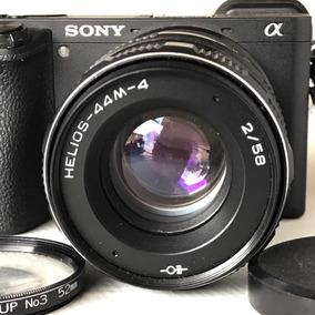 Lente Helios 44 -4 58mm F2 M42 E Adaptador Sony Nex A6500 A7