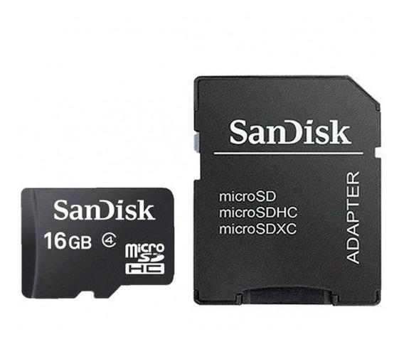 Cartão De Memória Micro Sd 16gb Sandisk Original + Adaptador