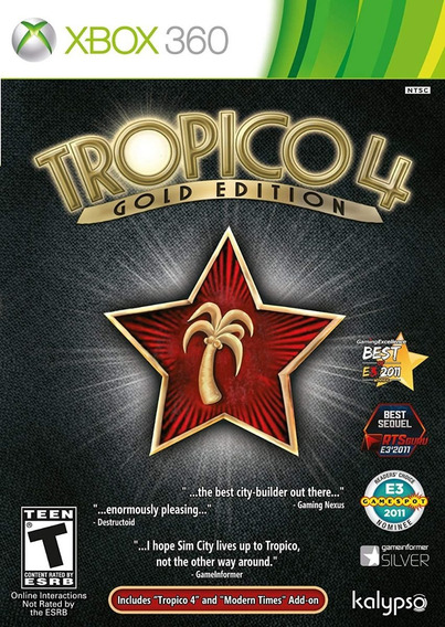 Jogo Tropico 4 - Gold Edition (novo) Xbox 360