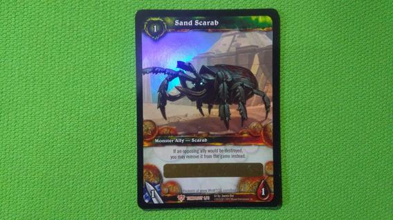 Wow Card Tcg Pet - Escaravelho Da Areia / Sand Scarab