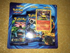 Pokemon Tcg Booster Paquetes Xy Evolution + Tarjeta + Moneda