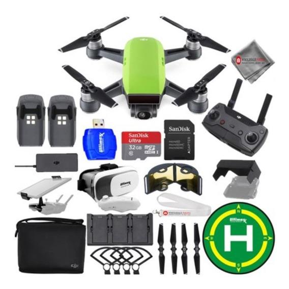 Drone Dji Spark Fly More Combo 3 Baterias +vários Acessórios