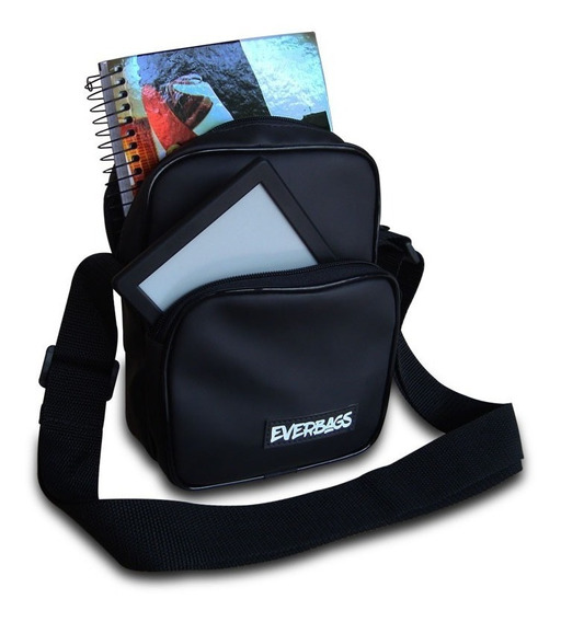 Shoulder Bag Black Emborrachada Everbags Necessaire