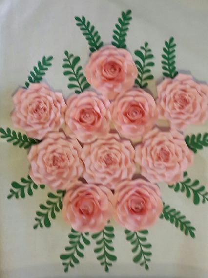 Flores Gigantes De Papel De 20 Cm