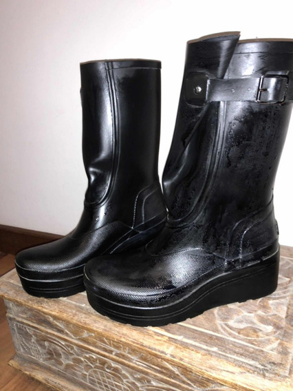 Botas Hunter Traidas De Uk, Con Plataformade 5 Cm Nro 38