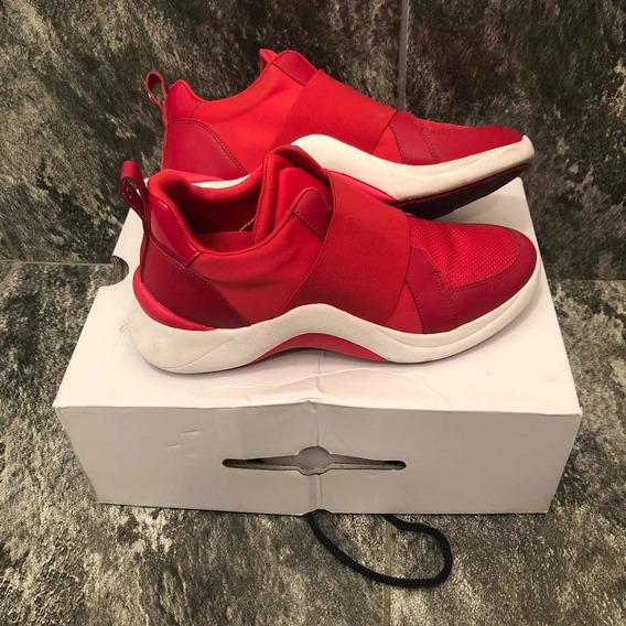 Zapatillas Aldo Mujer Rojas Como Nuevas