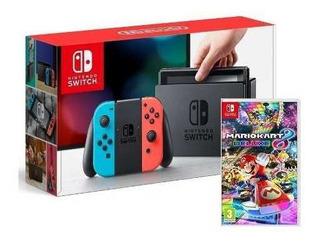 Consola Nintendo Switch Neón + Juego Mario Kart 8 Deluxe