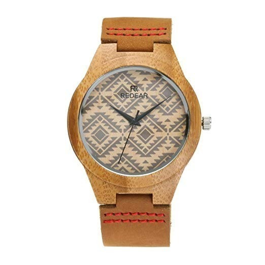 Reloj Madera Bambu Redear Cuarzo Para Hombre Original Nuevo