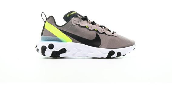Nike React Element 55 Pumice Volt Hombre Originales Cod 0114